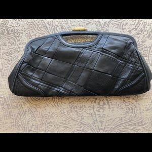 Elliott Lucca Black clutch leather purse